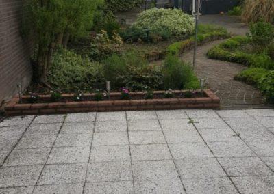 oude situatie voor tuinaanleg Van Wijk Sierbestrating