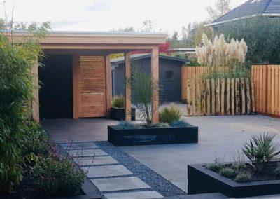 tuinhuis nieuwe tuin Van Wijk Sierbestrating